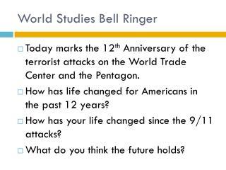World Studies Bell Ringer