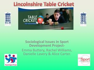 Sociological Issues in Sport Development Project-