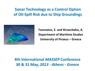 Sonar  Technology as a  Control  Option of  Oil-Spill  Risk due to  Ship  Groundings