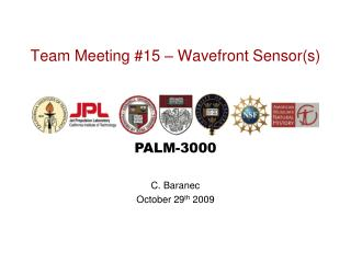 Team Meeting #15 – Wavefront Sensor(s)