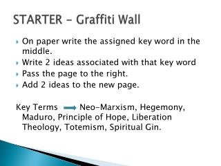STARTER -  Graffiti Wall