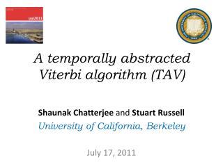 A temporally abstracted Viterbi algorithm (TAV)