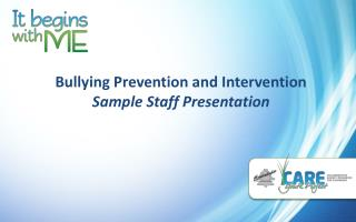 Bullying Prevention and Intervention  Sample Staff Presentation