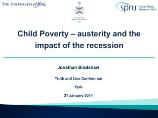 Child Poverty – austerity and the impact of the recession
