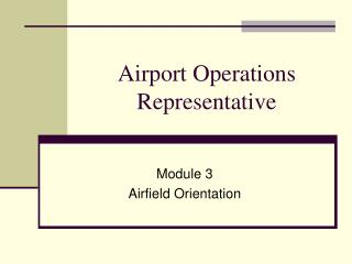Airport Operations Representative