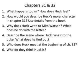 Chapters 31 & 32