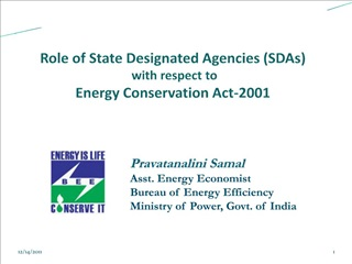 Role of State Designated Agencies SDAs  with respect to Energy Conservation Act-2001
