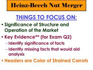 Heinz-Beech Nut Merger
