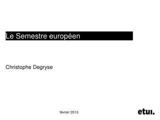 Le Semestre européen