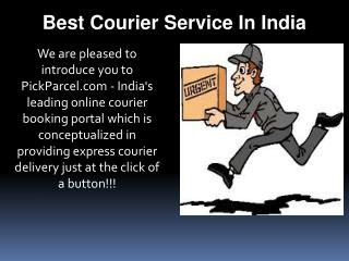 Best Courier Service In India- Pick Parcel