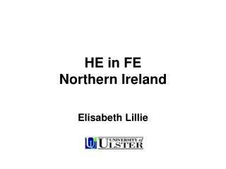 HE in FE Northern Ireland