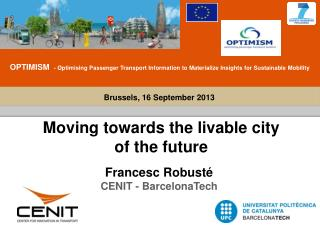 Moving towards the livable city of the future