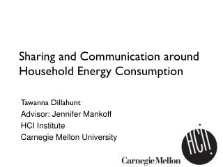 Sharing and Communication around Household Energy Consumption