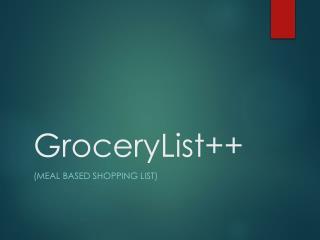 GroceryList++