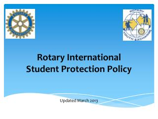 Rotary International Student Protection Policy