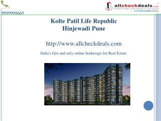 Flats in Pune Call 9999998665- Kolte Patil Life Republic