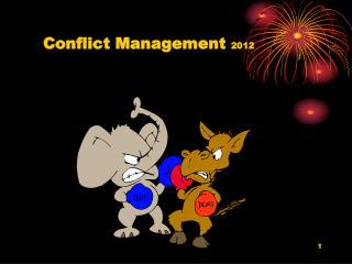 Conflict  Management  2012