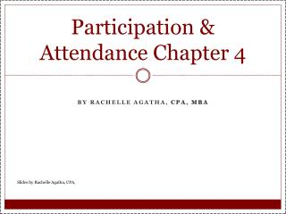 Participation & Attendance Chapter  4
