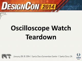Oscilloscope Watch Teardown