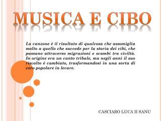 MUSICA E CIBO