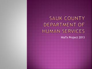 Sauk County Department of Human Services