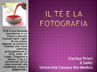 Il tè e la fotografia