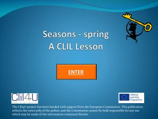 Seasons - spring A CLIL Lesson
