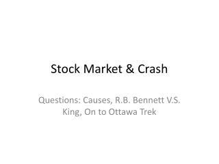 Stock Market & Crash