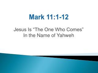 Mark 11:1-12