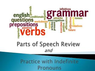 Parts of Speech Review and