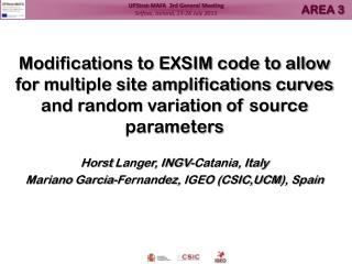 EXSIM  – Modifications