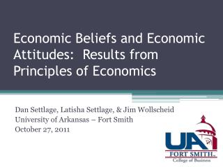 Economic Beliefs and Economic Attitudes:  Results from Principles of Economics