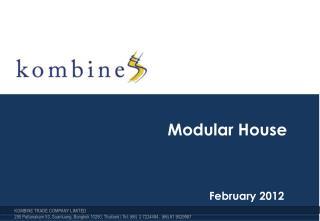 Modular House February 2012