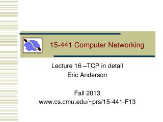 15-441 Computer Networking