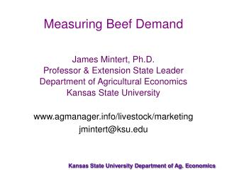 Measuring Beef Demand