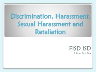Sexual Harassment in the Education Workplace
