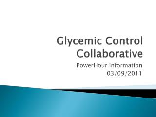 Glycemic Control Collaborative