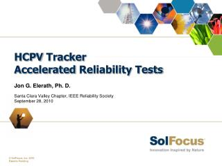 HCPV  Tracker Accelerated  Reliability Tests