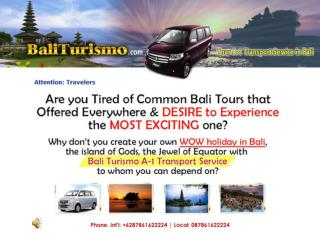 Join BaliTurismo A-1 Transport Service