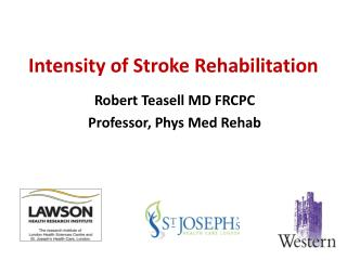 Intensity of Stroke Rehabilitation
