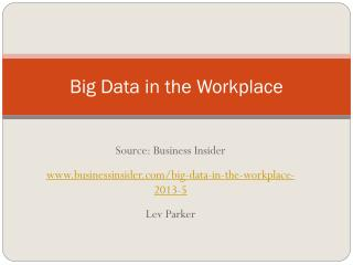 Big Data in the Workplace