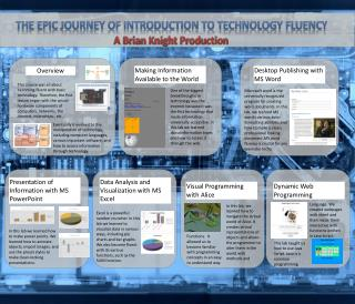 The Epic journey of Introduction to technology Fluency