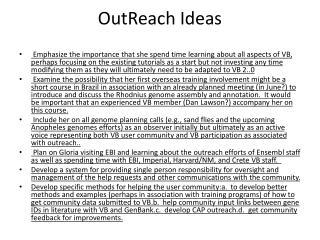 OutReach Ideas