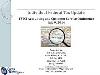 _______________________________________________ Individual Federal Tax Update