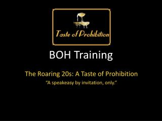 BOH Training