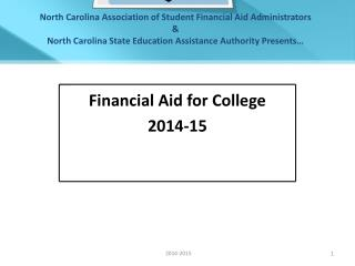 Financial Aid for College 2014-15