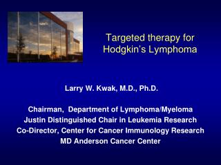 Targeted therapy for Hodgkin's Lymphoma