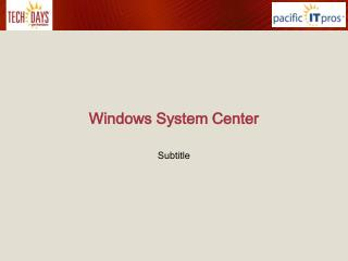 Windows System Center