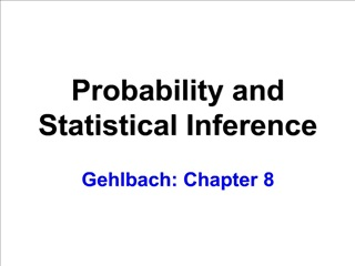 Probability and  Statistical Inference  Gehlbach: Chapter 8