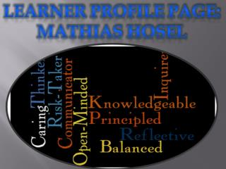 Learner profile  page: Mathias Hosel
